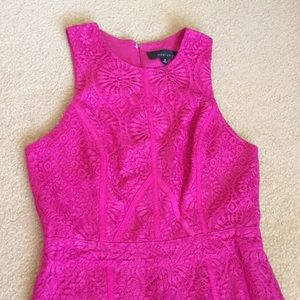 Fuchsia lace jumper